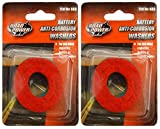 #7: 2-PACK (4 Washers) - Road Power 989 Anti-Corrosion Fiber Washers, (2 Red plus 2 Green)