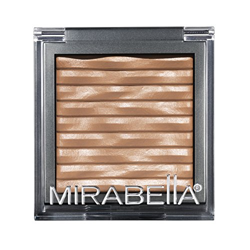 Mirabella Bronzed Mineral Bronzer with Shimmering Sun-Kissed Glow – Baked Sand, 7.5g/0.26oz