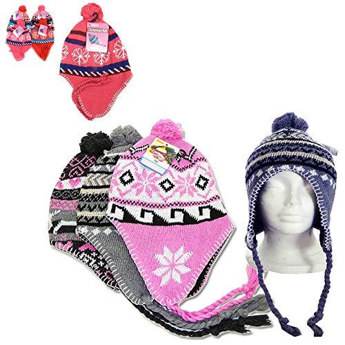 1 Peruvian Winter Earflap Muff Ski Hat Skully Beanie Cap Snow Womens Mens Cozy