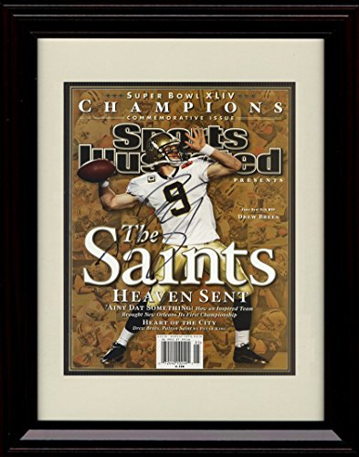 Framed Drew Brees Sports Illustrated Autograph Replica Print   Champions