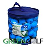 50 x Mixed Used Golf Balls in a Blue Plastic Bad - Grade B / AAA