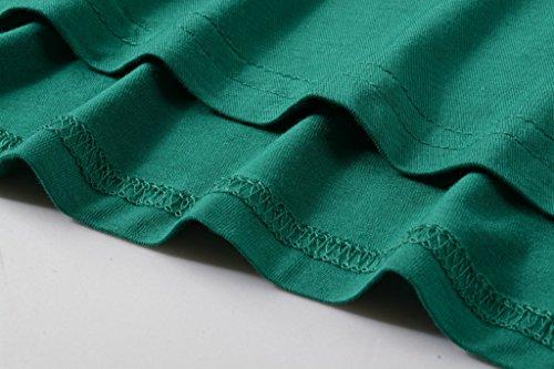 LARACE Women 3/4 Sleeve Tunic Top Loose Fit Flare T-Shirt(3X, Deep Green) by LARACE (Image #8)