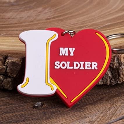 Amazon.com: I Love My del ejército soldado llavero: Toys & Games