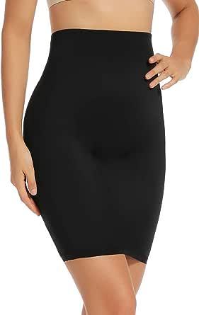 Joyshaper High Waist Half Slips Under Dresses for Women Tummy Control Skirt Body Shaper Slip Slimming Shapewear