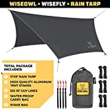 Wise Owl Outfitters Camping Tarp - 11 x 9 ft