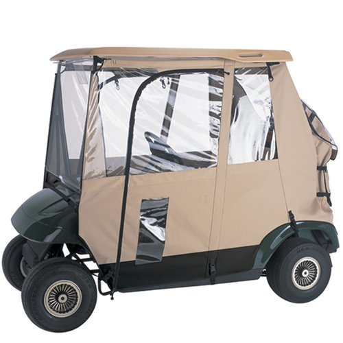 UPC 052963720921, Classic Accessories Fairway Deluxe 3-sided Golf Car Enclosure (fits 83-07 club cars with included Adapter)