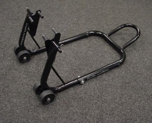 OXFORD BLACK MOTORCYCLE PADDOCK STAND FRONT