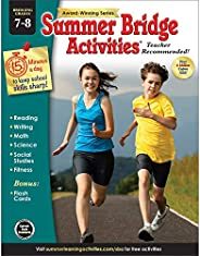 Summer Bridge Activities - Grades 7 - 8, Workbook for Summer Learning Loss, Math, Reading, Writing and More wi