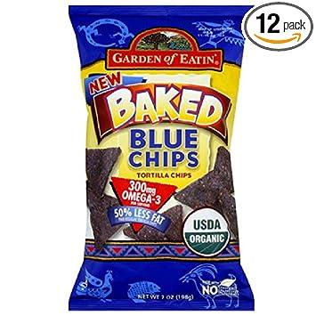 Amazoncom Garden of Eatin Baked Tortilla Chips Blue Corn 7