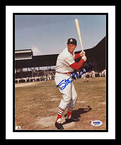 Stan Musial Signed Batting Stance Photo