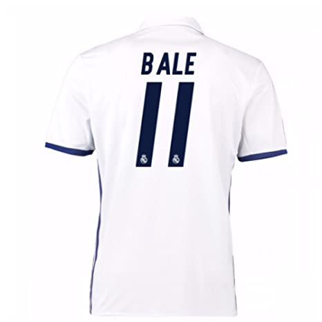 403cde7ec8a10 2016-17 Real Madrid Home Shirt (Bale 11) - Kids  Amazon.es  Deportes ...