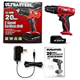 "Ultra Steel 20V 1.3Ah Lithium-Ion 3/8"" Cordless"