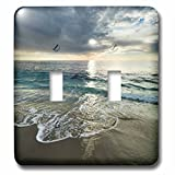 3dRose Danita Delimont - Beaches - USA, California, La Jolla. Sunset with dramatic clouds at the beach. - Light Switch Covers - double toggle switch (lsp_278572_2)