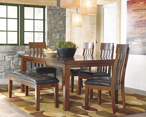 Ashley Furniture Signature Design – Ralene Dining Room Bench – Rectangular – Vintage Casual – Medium Brown