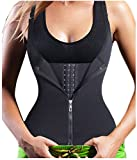 Gotoly Quick Weight Loss, Adjustable Straps Body Shaper Waist Cincher Tank Top (3XL Fits 37.0-40.1 Inch Waistline, Black(Tummy Tuck))