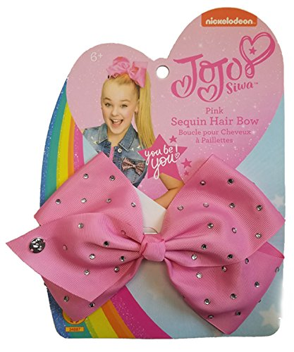 Rubies 34887_NS JoJo Siwa Hair Bow, Pink, One Size Rubies - Domestic