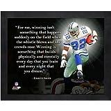 Emmitt Smith Dallas Cowboys NFL Pro Quotes Framed 8x10 Photo #2