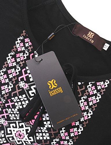 T Nero T ISASSY Shirt Shirt Donna ISASSY ISASSY Donna Nero 6Cqwxpagg
