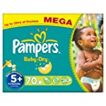 Pampers Baby Dry Size 5+ (Junior +) M...