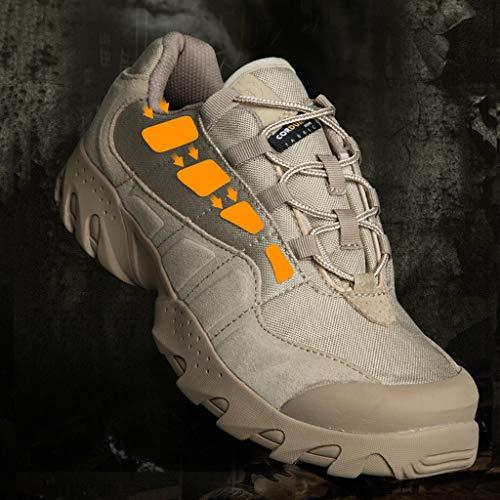 HJHHJHAB Bottes de l'armée Tactique Hommes Chaussures de Sport Basses imperméables Chaussures de randonnée en Plein air… 5