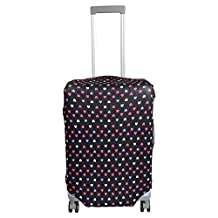 uxcell® Elastic Polyester Heart Print Luggage Case Dust Resistant Washable Cover 22-26 Inch