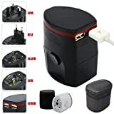 First2savvv Luxury Universal Worldwide Travel Power Adaptor and USB Charger - African / European / American / Australian / Holiday Plug Adapter - Covers Over 150 Countries for Nokia Lumia 820