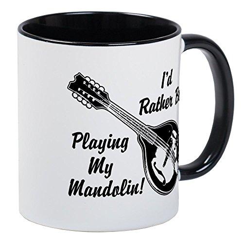 CafePress - Rather Be Playing My Mandolin Mug - Unique Coffee Mug, Coffee Cup ()