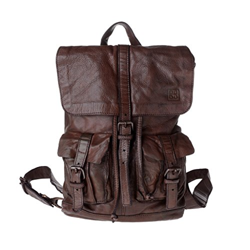 2 correas Mochila en piel vintage estilo Brown vivido prenda DUDU teñida Cocoa qq08wxpU