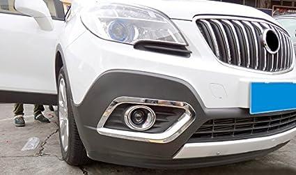 4 carcasas para Mokka 2013 2014 2015 luces de coche ABS que se ajustan a los faros antiniebla delanteros y traseros con acabado cromado: Amazon.es: Coche y ...