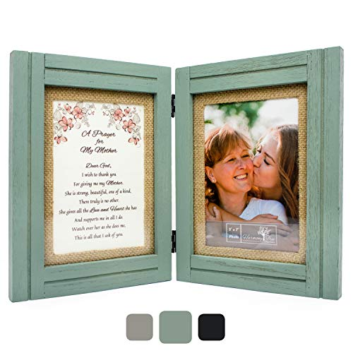 Best Gifts for Mom from Daughter or Son | A Prayer for My Mother - 5 x 7 Picture Frames | Wood Wall Art or Table Decor | Birthday, Mothers Day, Mother of the Bride or Groom, Christmas, Valentines Day