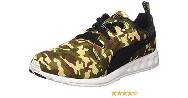 Puma Carson Runner Army Camo Zapatilla de Running Verde Size: 10: Amazon.es: Zapatos y complementos