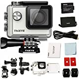 ThiEYE i60 WIFI 4K Sports Action Camera Video Camcorder 12MP 1080P Full HD 130FT (40M) Waterproof 155 Degree Wide Angle Lens 1.5 LCD Screen 4X Optical Zoom For Outdoors, Including Accessories