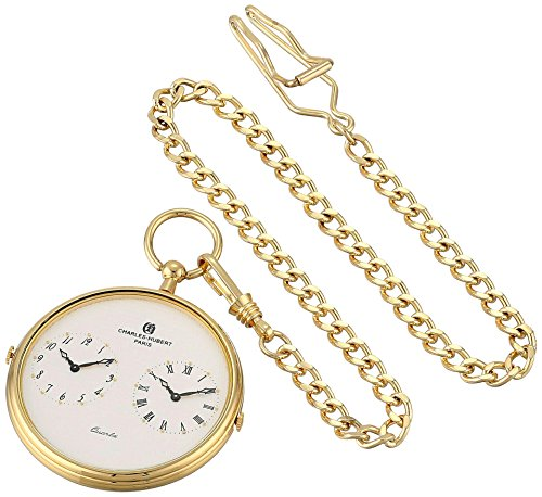 Charles-Hubert, Paris 3970-G Classic Collection Analog Display Quartz Pocket Watch by Charles-Hubert, Paris
