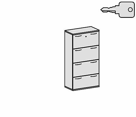 Registro Armario, 4 cajones archivadores (con cierre centralizado Extracción Y Seguridad, se puede