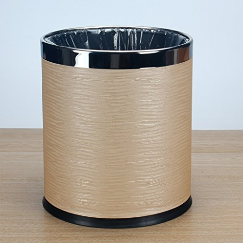 Dth Trash Can Bin Stainless Steel Indoor Dustbin Pastoral