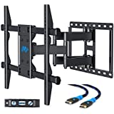 Mounting Dream MD2126 TV Wall Mount Bracket with Full Motion Articulating Arms for most 42-70'' LED, LCD, OLED, Flat Screen and Plasma TVs up to VESA 600mm and 100 LBS, with Tilt, Swivel and Rotation
