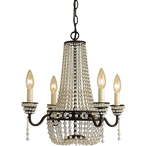 AF Lighting 7003-4H Parlor Mini Chandelier- Cream Beads