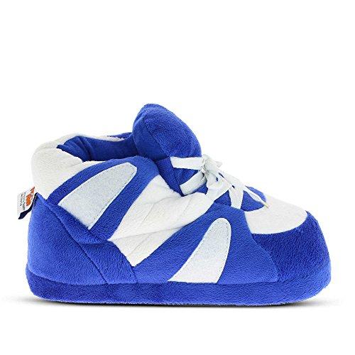Sleeperz Pantofole unisex adulto, blu e bianco