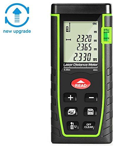 XSMeterHouse Handheld Digital Laser Distance Meter 131 Feet Laser Measure with Pythagorean Theorem,Self Calibration Storage (30 units) Range Finder with m/in/ft