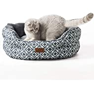 Bedsure Cat Beds for Indoor Cats - Cat & Dog Bed with Reversible Cushion for Joint-Relief and Sleep Improvement - Machine Washable - Grey, 25x21x9 Inches