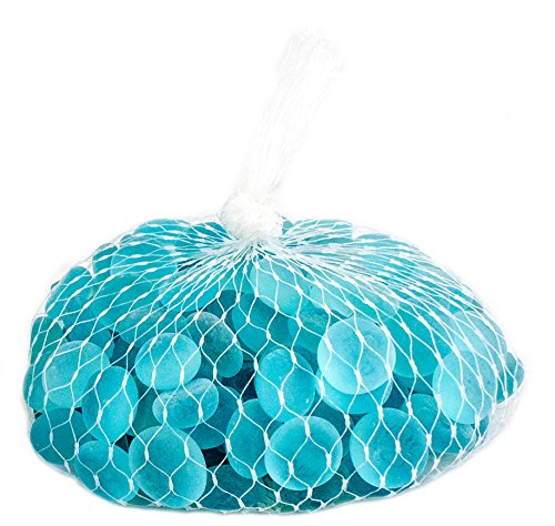 Supermoss (24130) Soft Glass Pebbles Vase Filler, 2lb, Glacier Blue