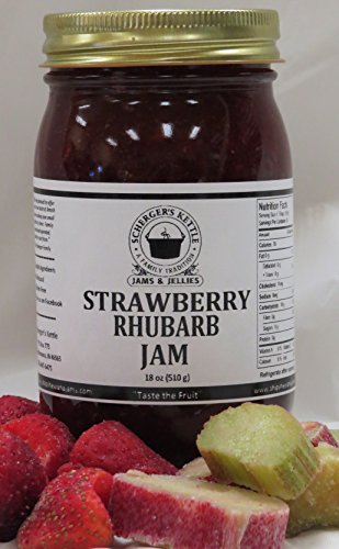 Strawberry Rhubarb Jam, 18 oz