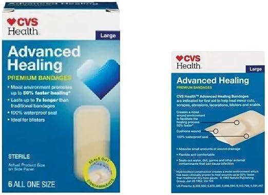 Amazon Com Cvs Health Advanced Healing Hydrocolloid Bandages