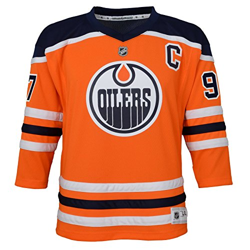 Oilers Jersey - NHL Edmonton Oilers Youth Boys Replica Home-Team Jersey, Small/Medium, Special Orange