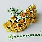 NAVA-CHIANGMAI-25-pcs-mini-Yellow-Rose-Bud-7x7mm-Mulberry-Paper-Flowerscrapbooking-wedding-doll-house-supplies-card