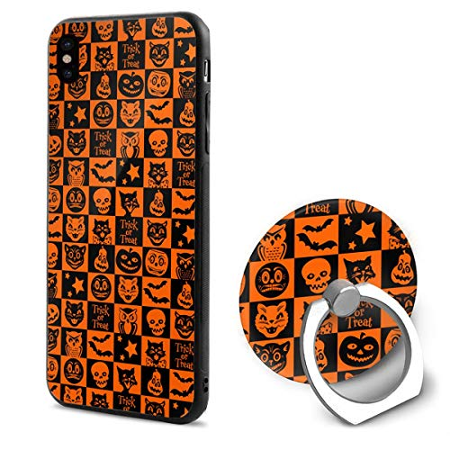 Halloween Gene TPU Case Ring Bracket Compatible iPhone X Cover 5.8 Inch