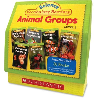 Scholastic Science Vocabulary Readers: Animal Groups, 26 books/16 pages & Teaching Guide (0545149207) by Scholastic