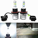 Alla Lighting New CSP Xtremely Bright LED Headlight Bulbs w/ High Power 8000Lm 6500K White Lamps (H13 9008)