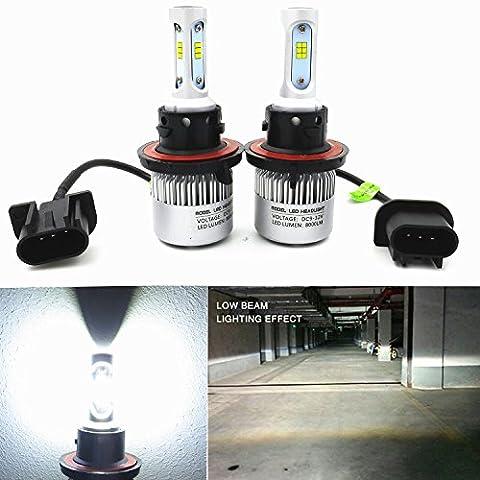 Alla Lighting New CSP Xtremely Bright H13 9008 H13LL LED Headlight Conversion Kits Bulbs w/ High Power 8000Lm 6500K White Lamps (H13 (08 Dodge Ram 1500 Headlights)