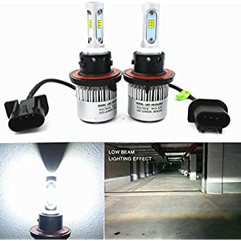 Alla Lighting New CSP Xtremely Bright H13 9008 H13LL LED Headlight Conversion Kits Bulbs w/ High Power 8000Lm 6500K White Lamps (H13 9008)